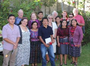 Some of the Paso directors with CMS scholars at the February 2015 gathering in Panajachel. Patricia Gutierrez, 2nd from left, front, is the CMS coordinator in Guatemala.