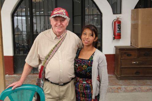Howard and his sponsored student Karina