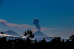 Fuego, near Antigua, erupting in 2015.