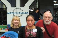 Faye and Bob Goodwin with thier sponsored student.