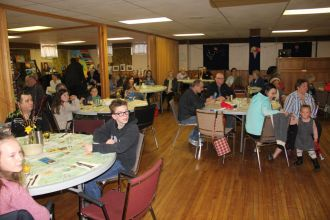 A large crowd enjoyed the meal and the slides from the 2019 Guatemala trip.